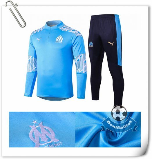 Ensemble Survetement Foot Marseille Om Bleu 2020 2021 Survetement Ensemble Survetement Marseille