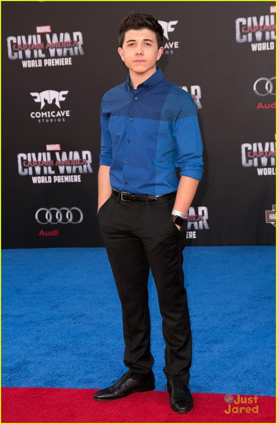 Bradley Steven Perry at the premiere of 'Marvel's Captain America: Civil War'