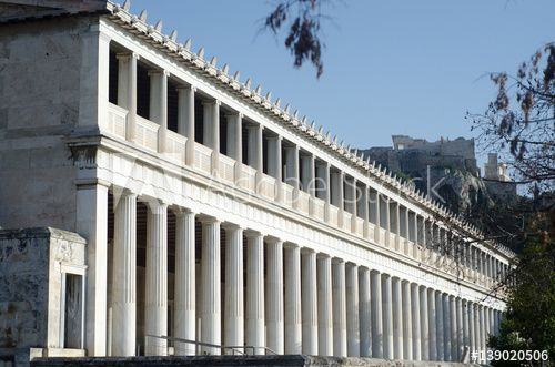 The Stoa Of Attalos Was A Stoa In The Agora Of Athens Greece