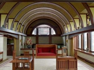 The Dana Thomas House is located in Springfield, Illinois. This house is the best preserved and most complete of the Frank Lloyd Wright homes which are known as the early Prairie houses