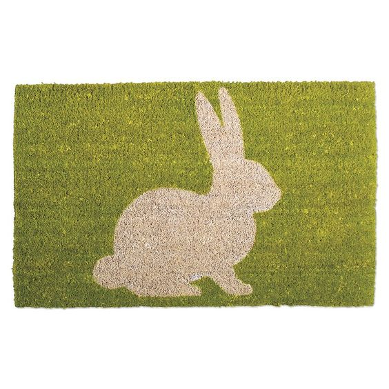 Have to have it. Bunny Silhouette Coir Mat - $32.99 @hayneedle