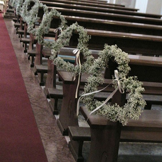 Altar Flowers Aisle Pew Ends: Alfabridal.com Absolutely Love These!! Gypsophila Hearts