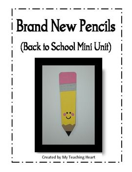 This back to school unit is based around the book Brand New Pencils, Brand New Books. It includes:* Pencil Craft (has templates, instructions and...: Book Lessons, Includes Pencil, Making Pencil, Pencil Crafts, Pencils Brand, Pencil People, Back To School