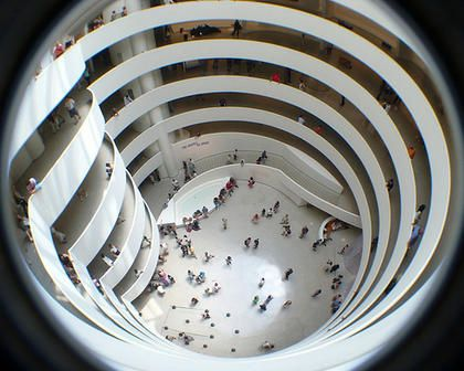 Nice shot of the atrium of the Guggenheim.