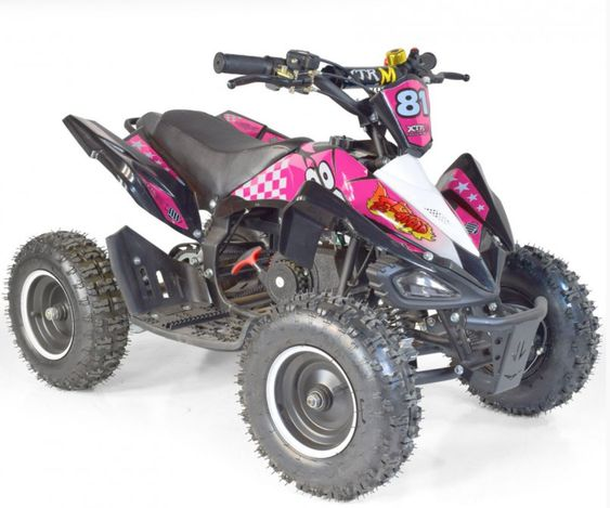 Quad Electrique 800w Xtrem 6 Noir Et Rose Quad Quad Pour Enfant Noir