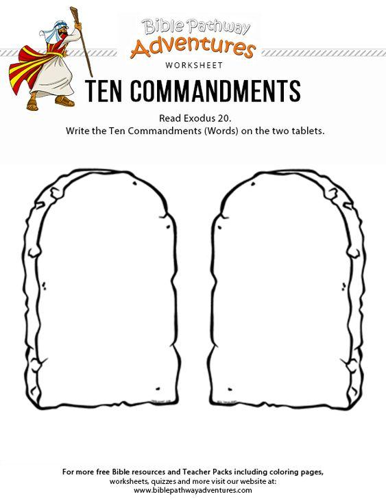 Ten Commandments Bible Worksheets Bible School Crafts Ten Commandments Craft