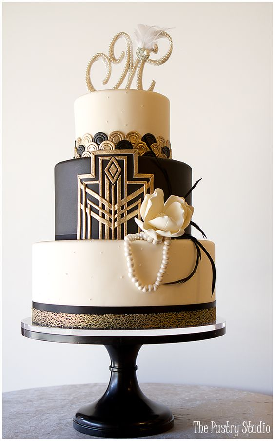 Gatsby-Art Deco Cake Design by The Pastry Studio: Daytona Beach