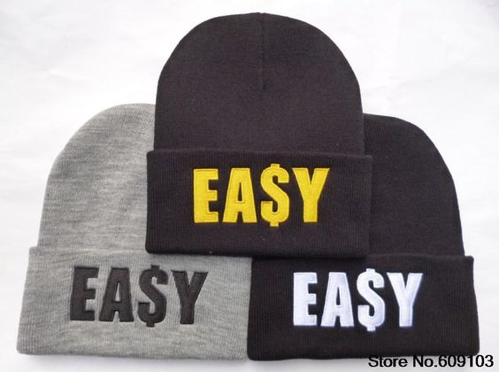 EASY Beanie Hats men's wool hat sports Skullies Knitted Warm Caps For Man Women Fashion Caps $9.99