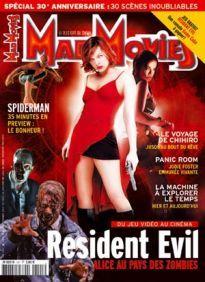 Mad Movies n°141, avril 2002. LES FILMS : Resident Evil. Le Voyage de Chihiro. Spiderman. Panic Room. Dossier Resident Evil. 30 scènes inoubliables.