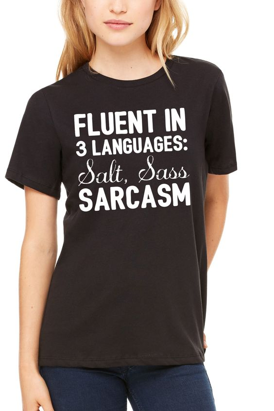 Fluent In 3 Languages - Women's Relaxed Jersey Short Sleeve Tee