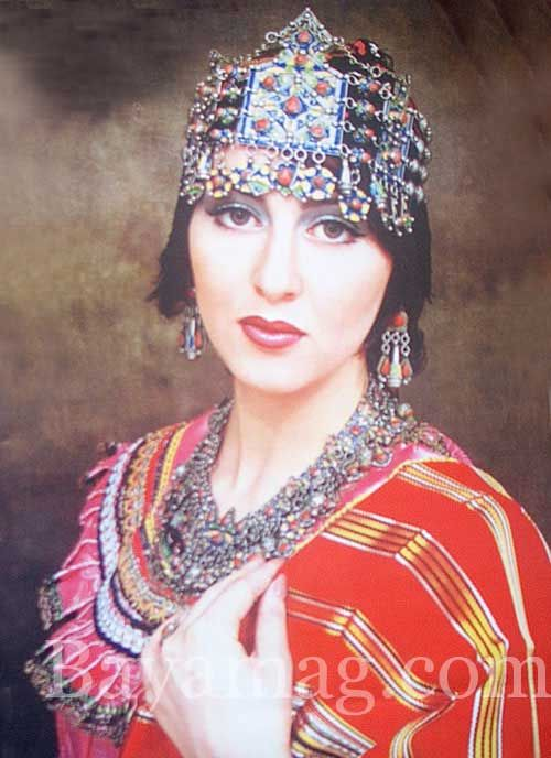 Africa |  Portrait of a Kabyle woman, Algeria.: