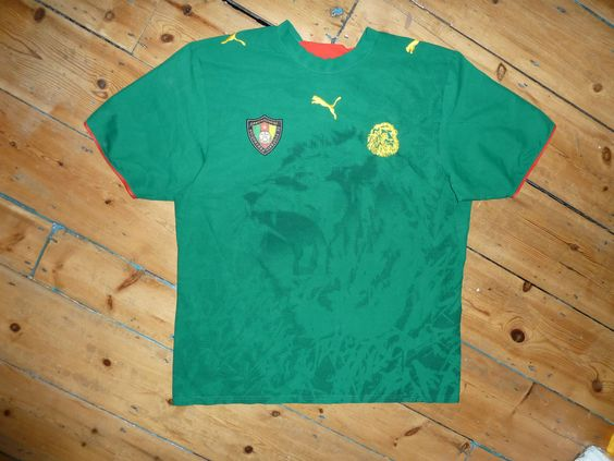 CAMEROON shirt  XL  Football Jersey maglia indossata maillot porté