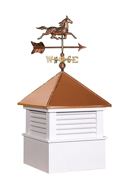 25 Sq Vinyl Douglas Cupola With Horse Weathervane Set Cupolas Copper Roof Weathervanes