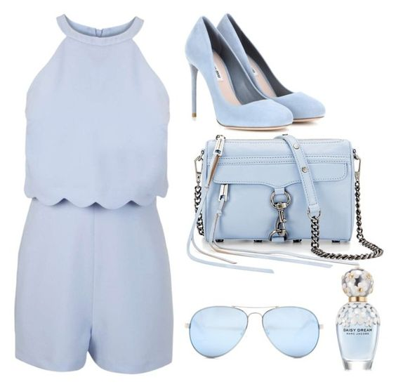 """Aqua blue"" by velyziacarina on Polyvore featuring Miss Selfridge, Miu Miu, Rebecca Minkoff, GUESS and Marc Jacobs"