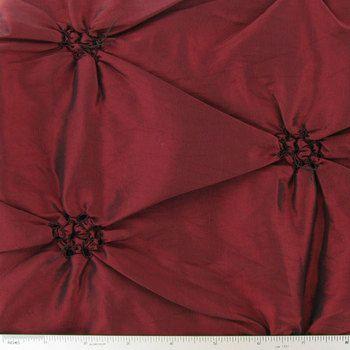 Burgundy Faux Silk Home Décor Fabric with Embroidery - Hobby Lobby