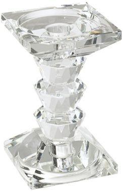 "Crystal 7 "" High Pillar Candle Holder"