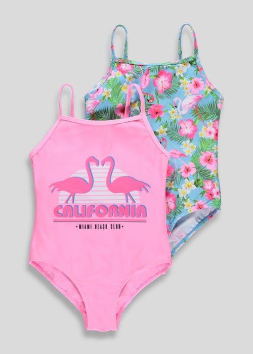 Girls Swimming Costume Bikini Tankini Two Piece Primark Age 2-9 Cute Swimsuit