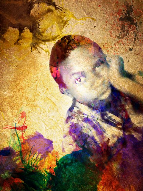 Water colour of an old picture of me :-), jst for fun