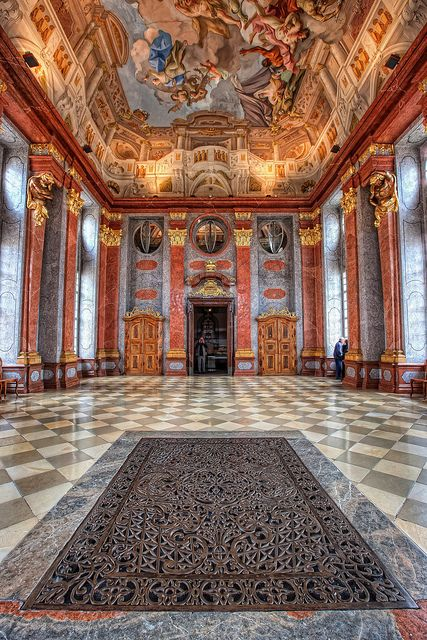The Marble Hall of Melk Abbey - Melk, Lower Austria