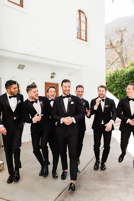 Millennial Pink Palm Springs wedding at Korakia by Cheers Babe Photo // groomsmen photos