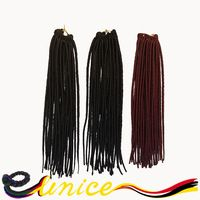 Hot Sale Faux Locs Crochet Hair Synthetic Dread Locs Crochet Braids Hair Extension Soft Faux Locs Braiding Hair Free Shipping