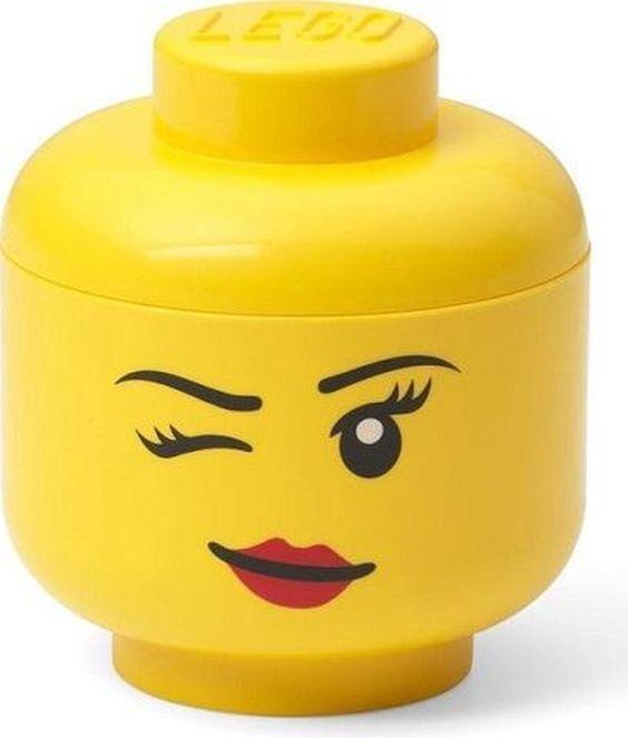 LEGO hoofd als opbergbox