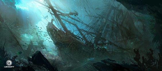ArtStation - Assassin's Creed IV: Black Flag - Underwater Wreck, Donglu Yu