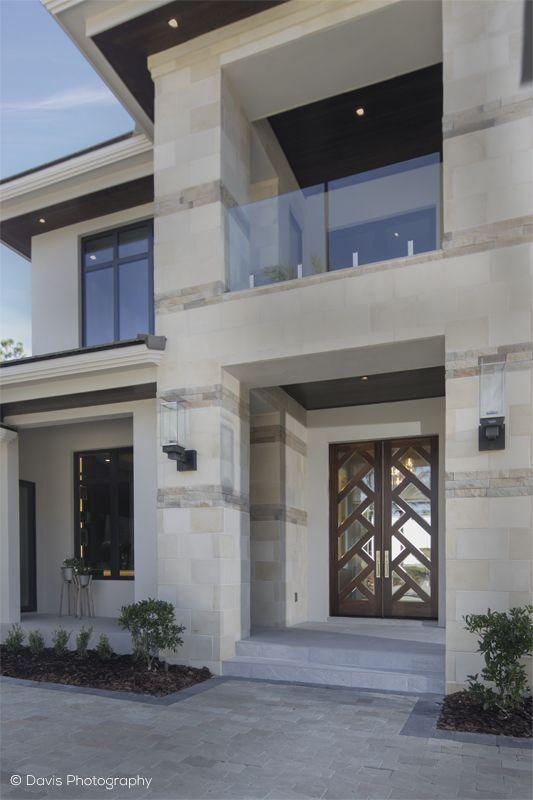 Contemporary Custom Shown In Walnut Front Door Design House Designs Exterior Double Front Doors