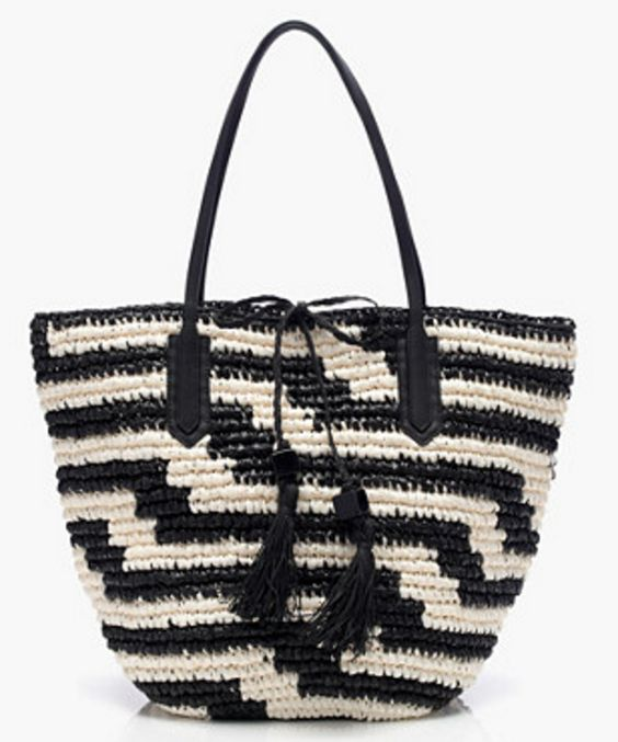 Black & White Geometric Tote