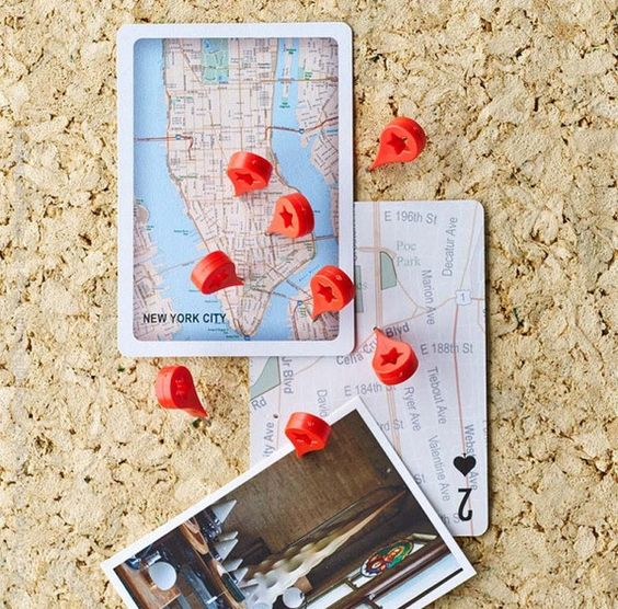 Map Marker Push Pins set of 8 – Travel Map Marker