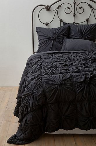 10 Chanel-inspired Home Decor Ideas: Anthropologie Rosette Quilt Set.