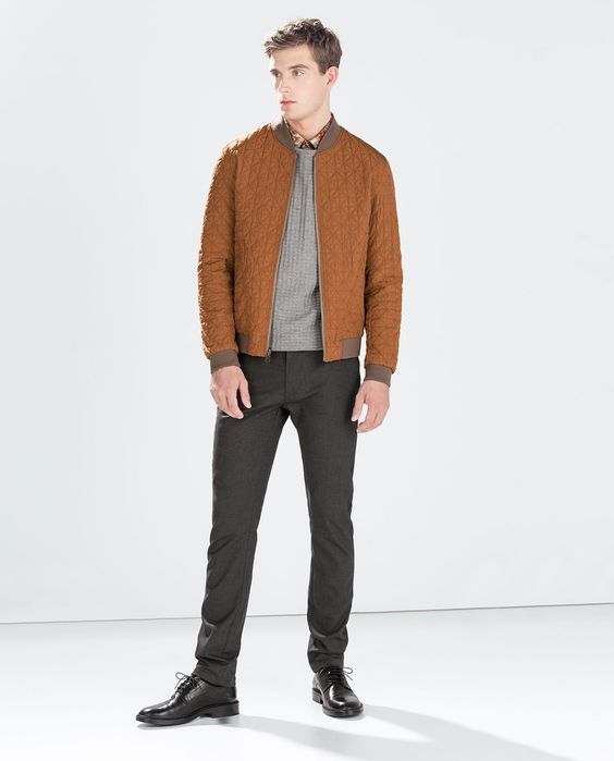 REVERSIBLE BOMBER JACKET-Outerwear-MAN-SALE AW.14 | ZARA United ...