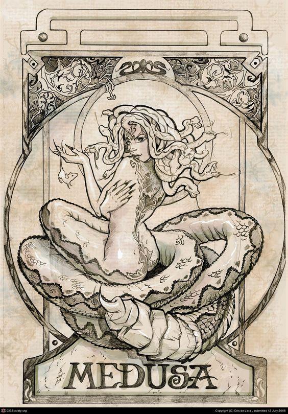 Medusa Pencil by Cris Delara   2D   CGSociety