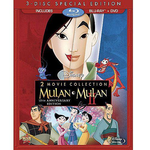 Mulan / Mulan II (Blu-ray + DVD) (Widescreen): Blu-ray : Walmart.com