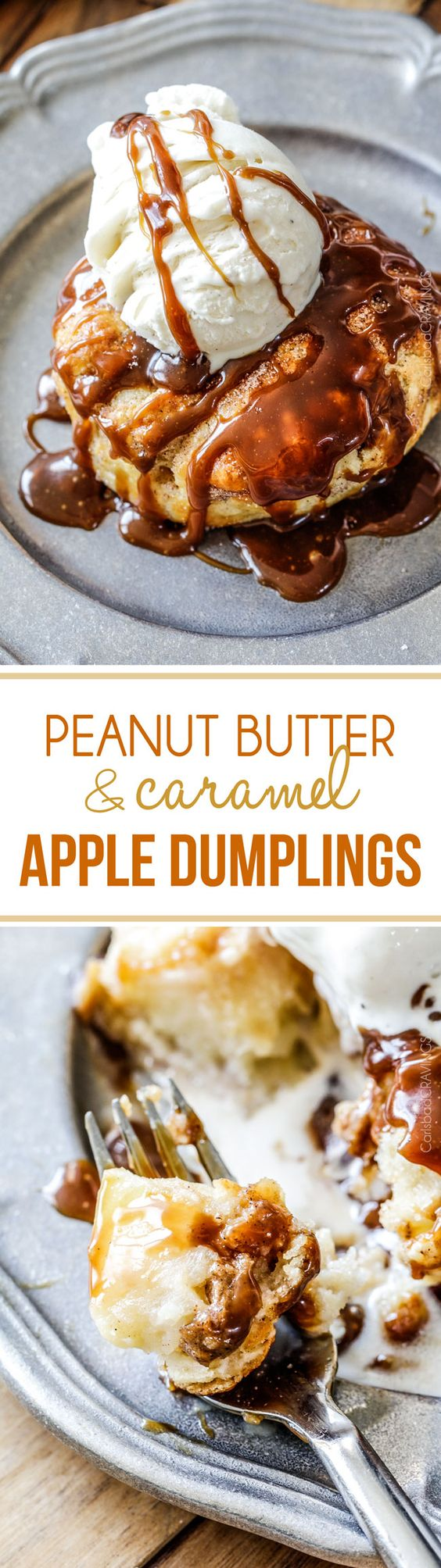 Peanut Butter and Caramel Apple Dumplings AKA the best apple dumplings ...
