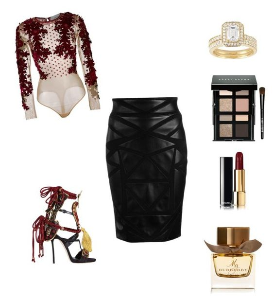 #1 by sgdupri on Polyvore featuring polyvore fashion style Amen Versace Dsquared2 Bobbi Brown Cosmetics Burberry clothing