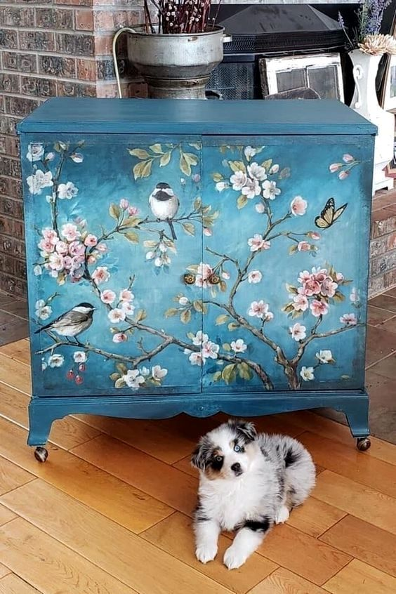 18 Diy Projects Interiordesignshome Com Painted Furniture Decoupage Furniture Funky Furniture