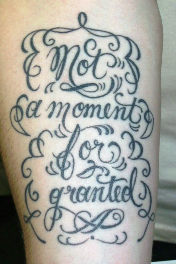 I know it's passe, but I really like calligraphed inspirational words, and I love tattoos on the inner forearm.