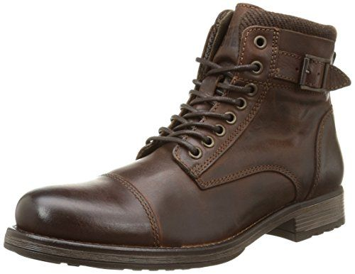 JACK & JONES Jjalbany Leather Boot Brown Stone - botas de cuero hombre, color marrón, talla 43 JACK & JONES