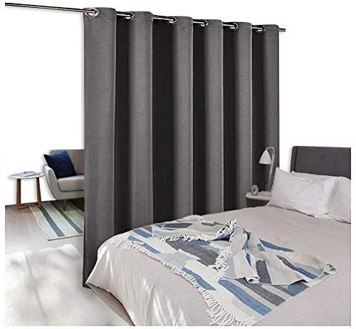 Amazing Offer On Nicetown Room Divider Curtain Screen Partitions Premium Heavyweight Blackout Curtain Panel Grommet Top Shelves One Panel 10ft Wide X 8ft Long Grey Online In 2020 Room Divider Curtain