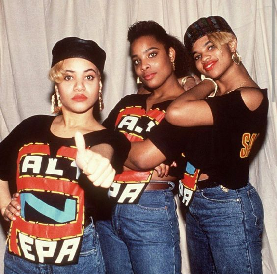 Salt-n-Peppa with Spinderella back in the day...: