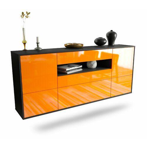 Sideboard Granjeno Ebern Designs Farbe Korpus Front Anthrazit