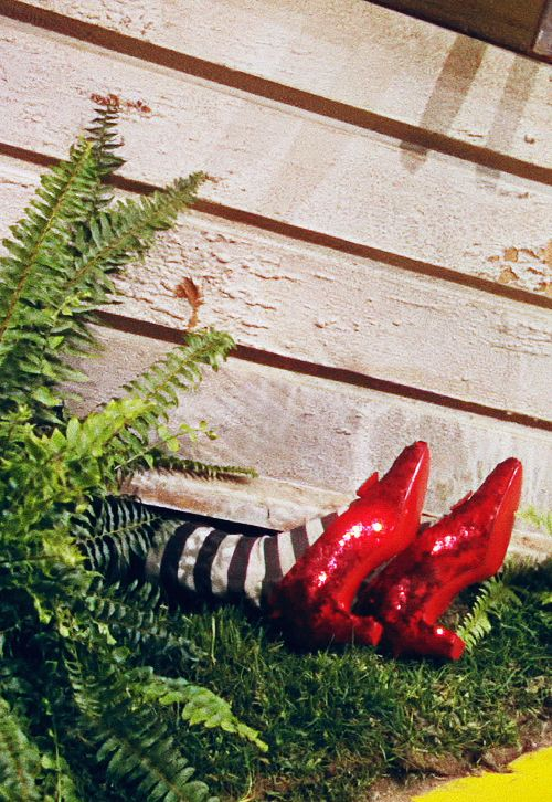 Wizard Of Oz Red Shoes Under House