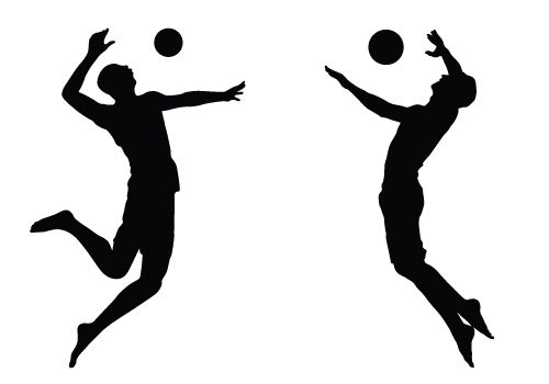 Beach Volleyball Silhouette Vector Download Free Silhouette Vector Volleyball Silhouette Silhouette