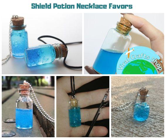Fortnite Shield Potion Necklace Favors