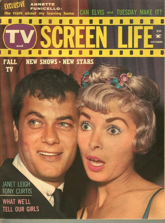 TV Screen Life, October 1960 (Tony Curtis and Janet Leigh)