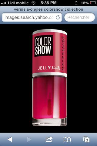 la nouvelle collection de vernis colorshow est sortie ces vernis sappellent jelly tints leur but est de crer des dgrads rapides grce leur texture - Vernis Color Show