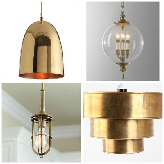 Indoor Lighting A Brass Pendant Stylish Style Kitchen