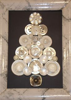 A lovely way to use some of your button stash! This gorgeous DIY Christmas tree could be made with any color buttons you have,