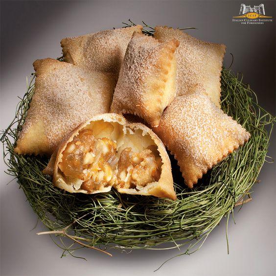 Caggiunitti al mosto cotto -  Italian region of Molise; Ingredients: oil, sugar, cinnamon, white wine, flour, cooked must, almond, cedar, walnuts, chestnuts